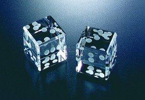 Badash Crystal Pair of Dice 1.5